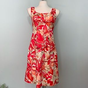 Twist front colorful sleeveless dress